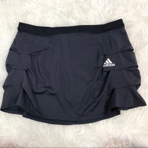 adidas Dresses & Skirts - Adidas skirt gray & black skort pleating climacool